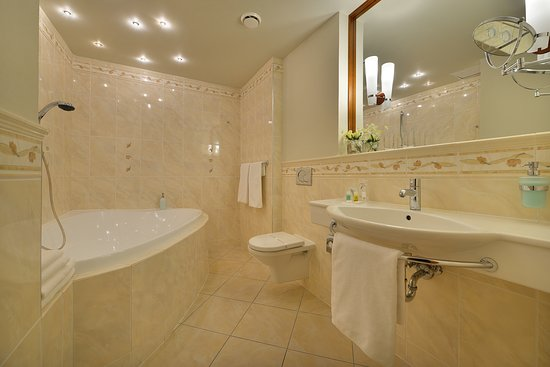 Koupelna na apartmánu.