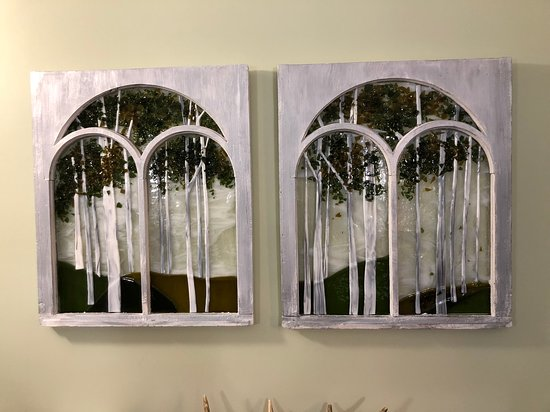 Red Lake, Kanada: Local art (stained glassed windows)