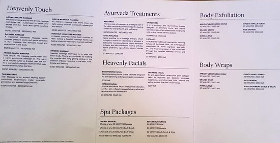 Spa Menu & Rates, they offer 30% discounts on top of this.