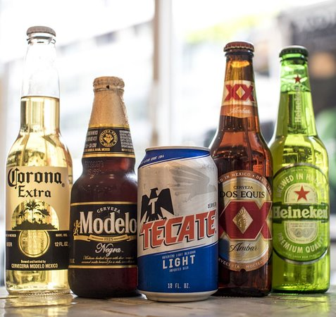 isit us and enjoy a beer with your friends, don´t worry we have one for every taste 🍺Corona. 🍺Modelo 🍺Tecate Light. 🍺Dos Equis. 🍺Heinekend.  Let's toast together 🍻
