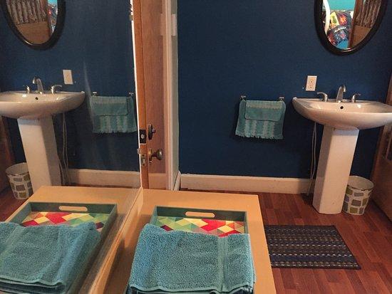 Saint-Fabien, Canada: Chambre Familiale ( 3 lits simples et 1 lit double en superposés)