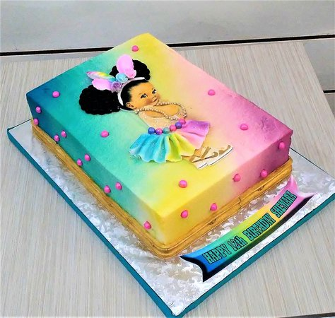 Custom cake for a birthday
