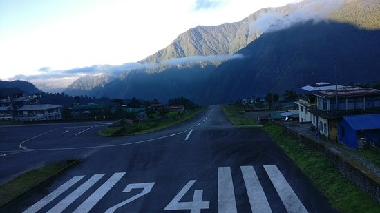 Lukla, Nepal: View of Likla Airport which is also know as one of the most dangerious airport in the world.