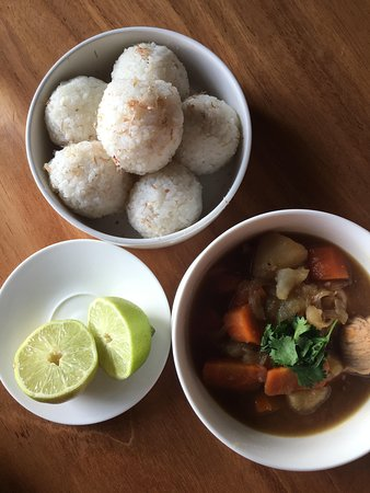 Soup and rice bowls