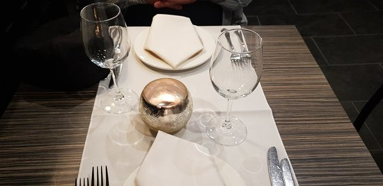 A typical place setting.