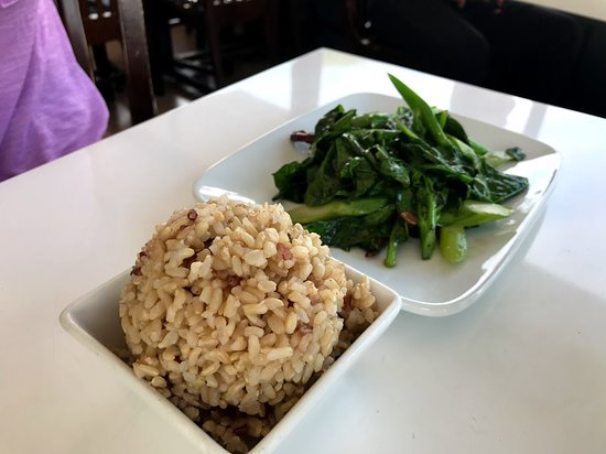 Satdha: Chinese Broccoli and a side of brown rice