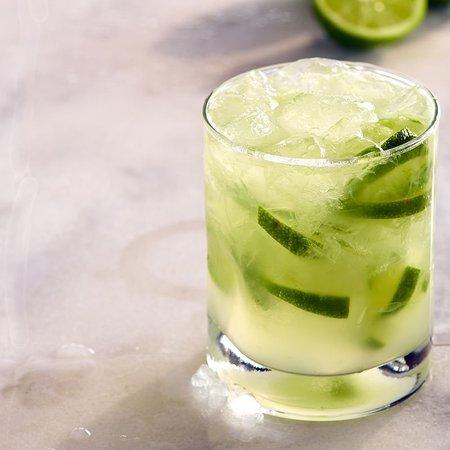 Caipirinha: Muddled with Fogo Silver Cachaça, the native spirit of Brazil, limes, cane sugar.