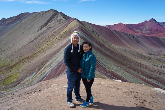 Full-Day Rainbow Mountain & Red Valley Small-Group Trek from Cusco: So excited to be among the first up the mountain