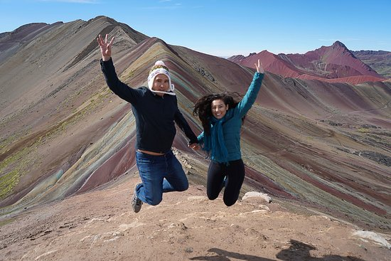 Full-Day Rainbow Mountain & Red Valley Small-Group Trek from Cusco: Jumping into an amazing hike!