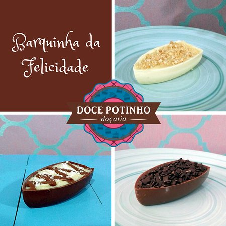 Barquinha de chocolate