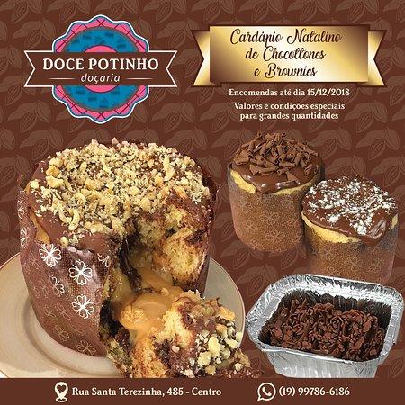 Chocottones e Brownies para o Natal.  *Sob encomenda.