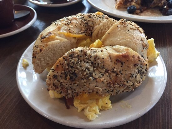 Everything bagel egg sandwich