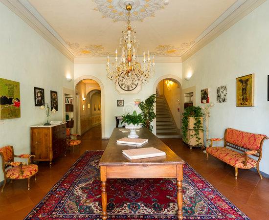 Hallways at the Hotel Villa La Palagina