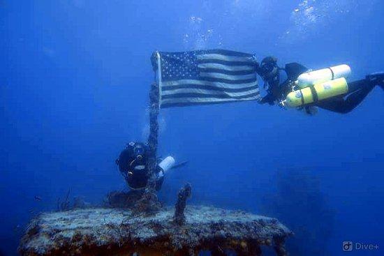 Key Largo Ship wrecks. USS Spiegel Grove
