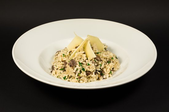 Home made risoto with beef