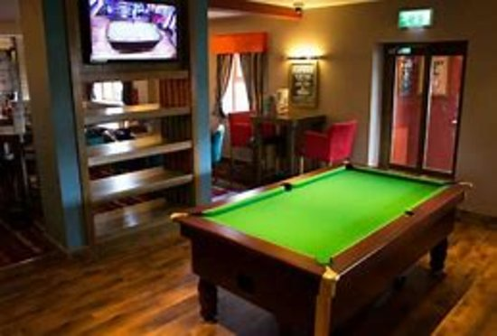 Bar area with pool table