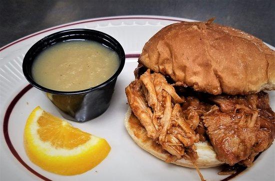 Trish's Red Bird Cafe: Pulled pork sandwich!