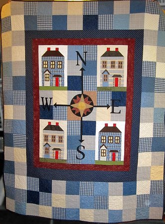 Georgia Sewing & Quilting: Bonnie's quilt (a gift for her son) - made from men's shirts