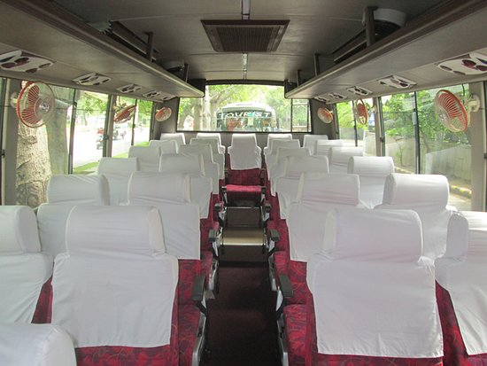 New Delhi, India: Our Tourist Coach