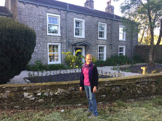 Outside The Rowe House, Horton-in-Ribblesdale, in the warm evening light of early summer
