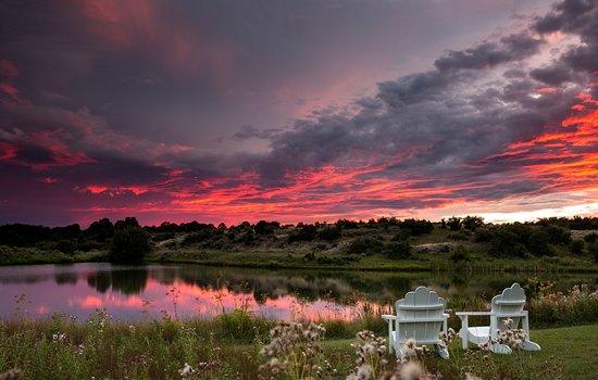 Sunset over Blue Lake