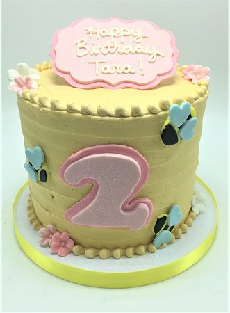 Magnificent Bumble Bee Birthday Cake Picture Of Flavor Cupcakery Bake Shop Personalised Birthday Cards Paralily Jamesorg