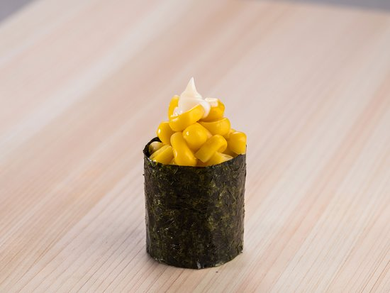Cute and quick.  Corn sushi