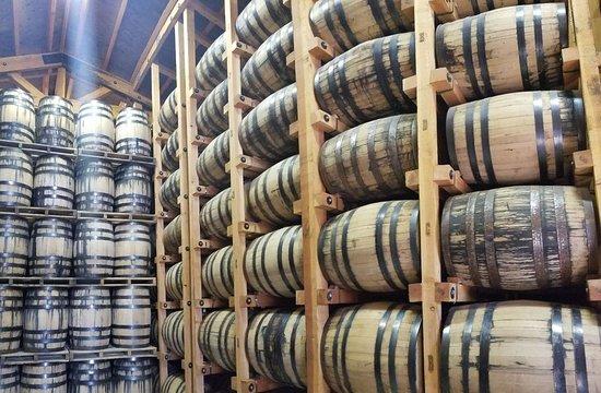 Barrels aging