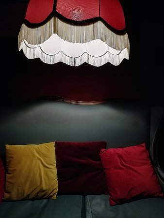 old couch and old lamp  photo by francesco de capraris