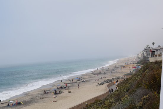 Carlsbad Village: View of the beach