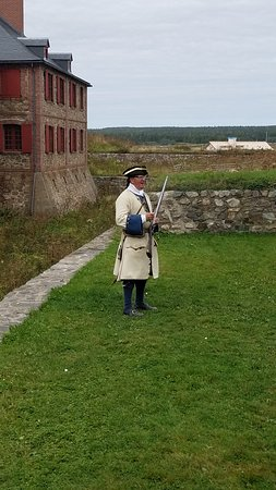 A demonstration of a muzzle loader. It was LOUD!