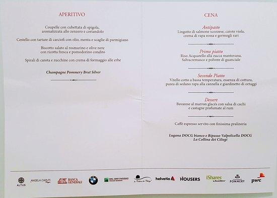 Palazzo Mezzanotte: Eccellente menu di alta qualità
