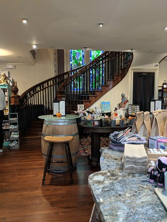 Gift shop and staircase to the second floor.