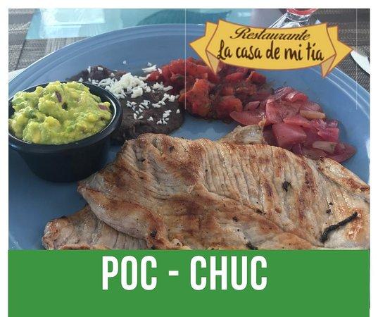 La Casa De Mi Tia: Filete de Cerdo, sabor exquisito a las brasas, suave y jugoso