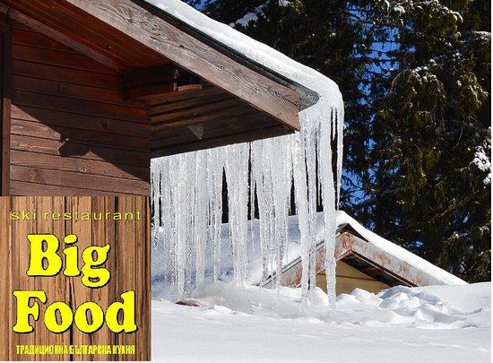 Big Food ski restaurant Pamporovo: Big Food Relax Puff Zone Breakfast 2,99€ + free tea Lunch 4,99€  Beer 1,99€