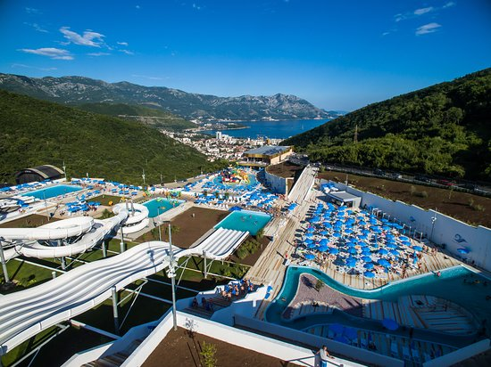 Want a photo with such a view of Budva? Welcome to the Aquapark Budva!
