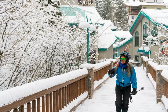Taos Ski Valley, Nouveau-Mexique : Nestled in behind the Cottams Shop and Tims cantina