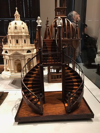 A sample of a woodworking project that a master craftsman would use to show his skill - from the exhibit on the second floor.