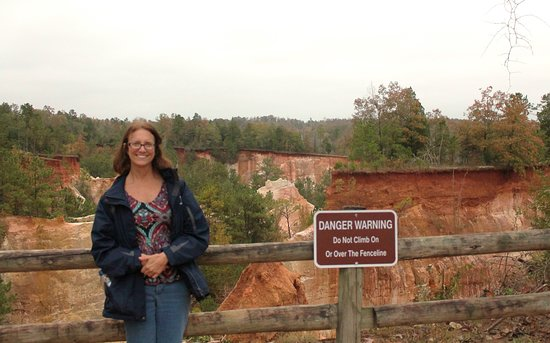 Providence Canyon State Outdoor Recreation Area: at overlook area