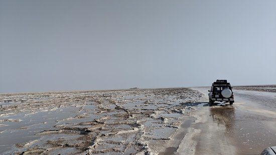 World Sun Ethiopia Travel and Tours: Driving across the salt flats