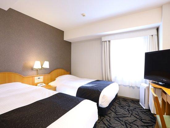 APA Hotel Takasaki Ekimae: ツインルーム(コンパクトな14㎡・ベッド幅120cm×2台)