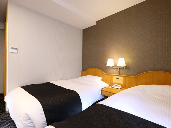 APA Hotel Takasaki Ekimae: ハリウッドツインルーム(コンパクトな14㎡・ベッド幅120cm×2台一体化)