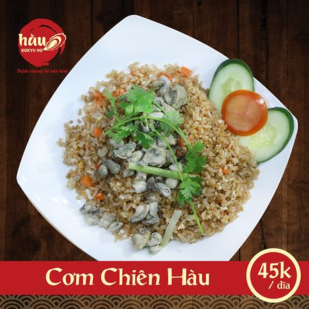 Hau Kokyu Ho: Cơm Chiên Hàu cũng là món ăn được nhiều thực khách lựa chọn và yêu chuộng tại Hàu Kokyu Ho. Vì món ăn được nấu thơm ngon và nguyên liệu được lựa chọn tỉ mĩ kỹ lưỡng.  Facebook:   https://www.facebook.com/Haunekokyuho/