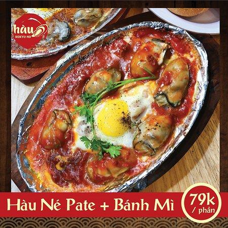 Hau Kokyu Ho: Hàu Né Pate Bánh Mì đậm đà, ngon tuyệt khi dùng kèm với bánh mì. Những con hàu được Kokyu Ho tuyển chọn, nước sốt đậm đà được đánh kèm với pate để vị thơm ngon càng thêm đặc trưng hơn.
