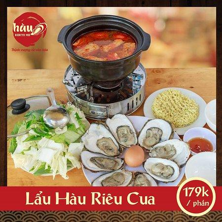Hau Kokyu Ho: Lẩu Hàu Riêu Cua ngon miệng, với nguyên liệu được tuyển chọn kỹ càng tại Hàu Kokyu Ho.  Đến với Hàu Kokyu Ho để tận  hưởng những món ăn từ Hàu ngon nhất!