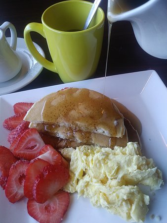 Made to order breakfast - Hot coffee and pancakes