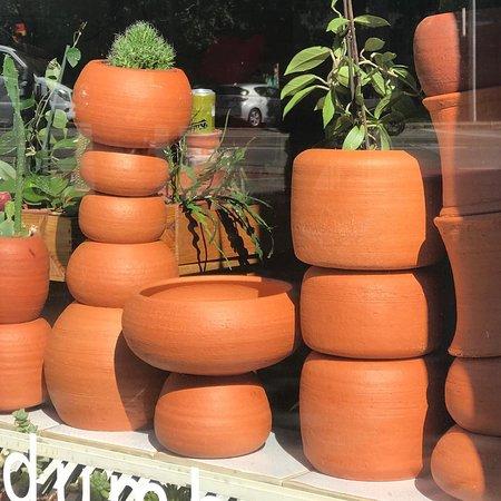 Udumbara´s flowerpot sculptures.