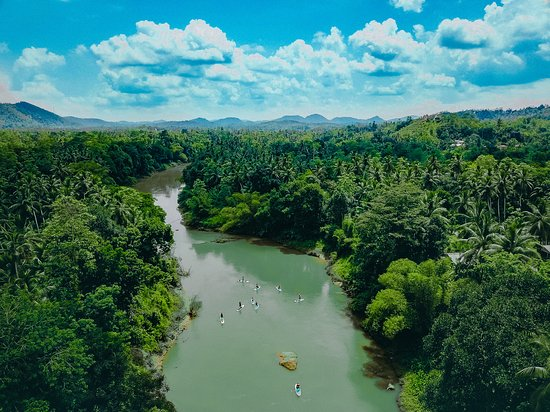 Ahangama, Sri Lanka: Meandering through The Kanneliya Rainforest with grade I/II rapids and jungle hills as the backdrop, the Gin Ganga is a true wild jungle river experience.