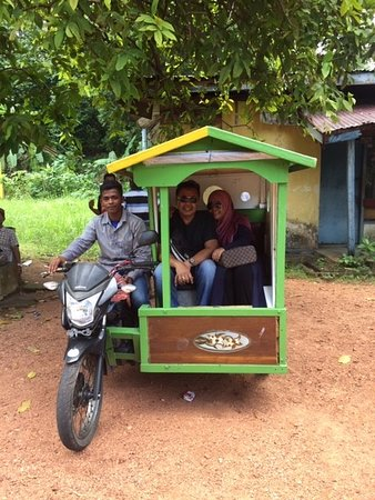 Taxi scooter and act as a tour guide