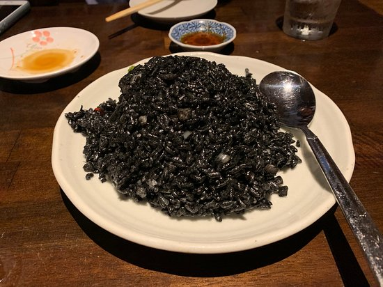 Super delicious squid ink fried rice!